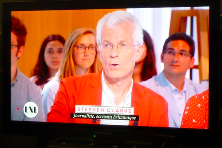 Looking orange on French TV